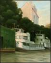 Color study for First light at McBride's drydock, Louisville, Kentucky